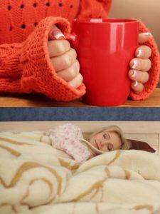 Дайте пострадавшему горячий чай и укутайте его в плед