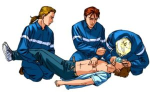 Если у больного наступила клиническая смерть, необходимо применять сердечно-лёгочную реанимацию
