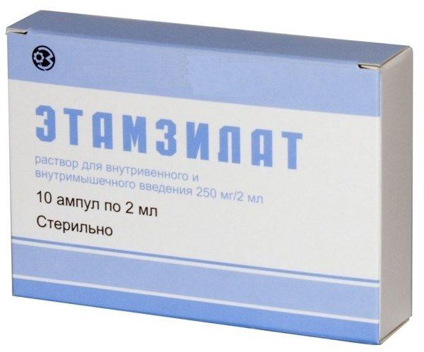 Хорошо помогают при кровотечении Этамзилат, Эпсилон и препараты с кальцием