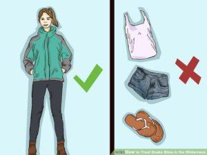 При прогулках в лесу носите высокие сапоги и плотную одежду