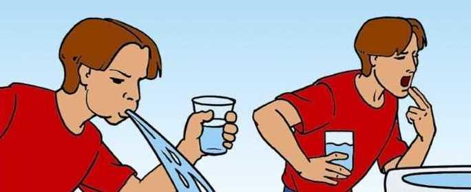 Необходимо обильное теплое питье и искусственное вызывание рвоты