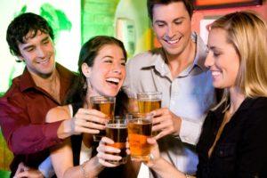 Легкая степень опьянения появляется после употребления 2 – 3 бокалов вина или другого легкого напитка