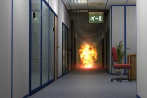 В большинстве случаев пострадавшие получают травмы от лучевых потоков, которые исходят от пламени